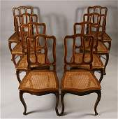 268 Eight 8 French provencial style side chairs can