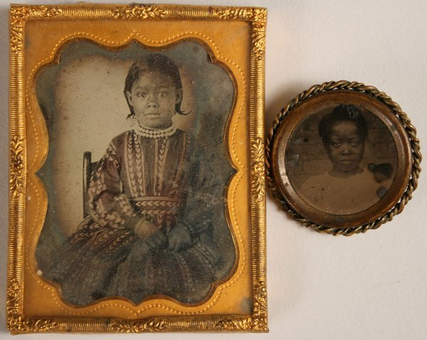 17: Ambrotype & Tintype of young black children