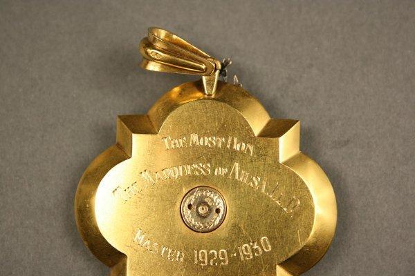 238: English gold enameled medal, London hallmarks - 5