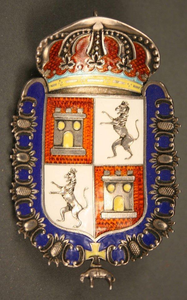 238: English gold enameled medal, London hallmarks - 7