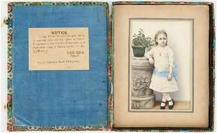 Yeu-Qua Portrait Miniature of Kate Freeman Clark