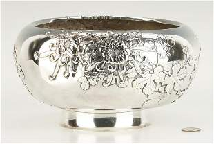 Japanese or Chinese Export Silver Bowl