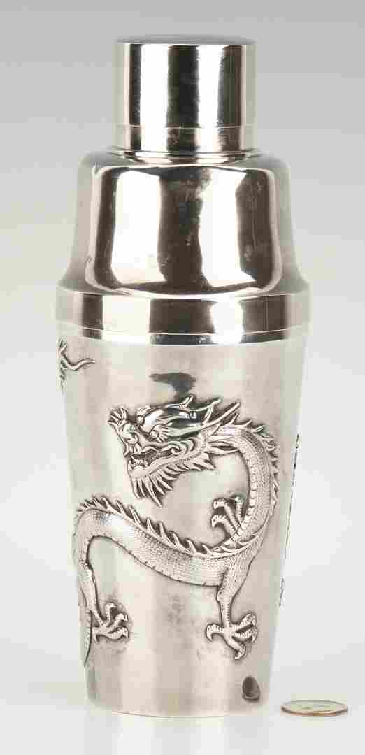 Chinese Export Silver Cocktail Shaker