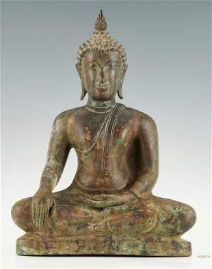Southeast Asian Bronze Buddha