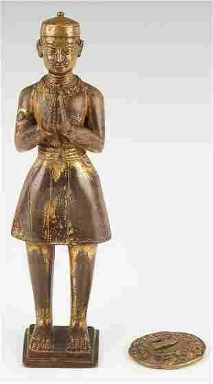 Chinese Bronze Figure and Japanese Tsuba