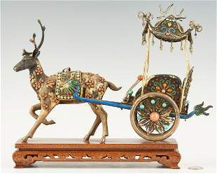 Chinese Filigree and Enamel Carriage