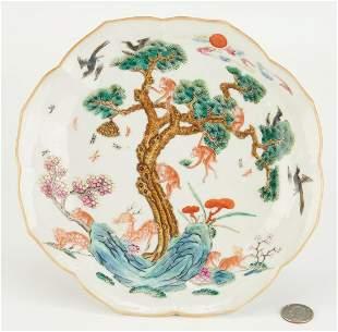 Dish with Monkey, Deer, & Wasp, Xianfeng