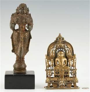 Bronze Yakshi and Jain Shrine ex-Simon Kriger
