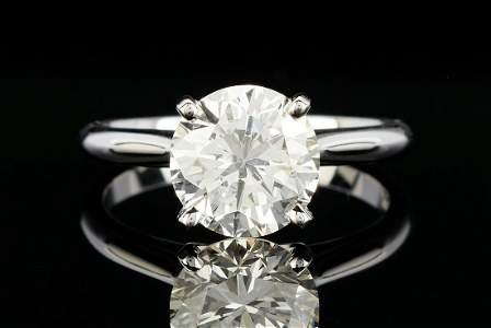 Ladies 2.93 ct. Round Brilliant Diamond Ring