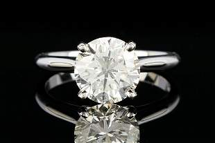Ladies 2.93 ct. Round Brilliant Diamond Ring