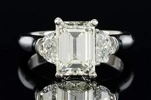 Ladies 3.19 Carat Platinum Diamond Engagement Ring