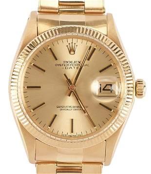 Rolex 18K Date Model Wrist Watch