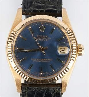 Rolex Medium Datejust 18K Wrist Watch