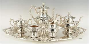 6 Pc. Francis I Tea Set w/ Sterling Tray