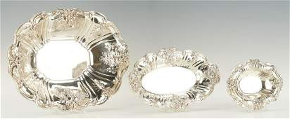 3 Reed  Barton Francis I Sterling Serving Dishes