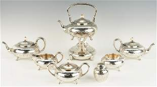 BSC Co. Sterling Tea Set inc. Kettle & Stand