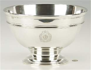 """Tiffany Sterling Silver Punch Bowl, 13 1/2"""" dia"""
