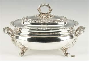 Matthew Boulton Old Sheffield Plate Tureen w/Crest