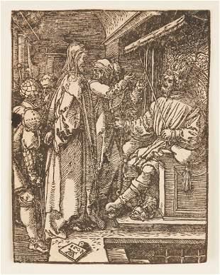 Albrecht Durer Woodcut, Christ Before Herod