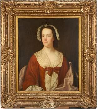 18th c. English School Portrait of a Woman, O/C