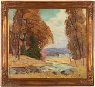 Carl R. Krafft O/C Painting, Autumn Landscape