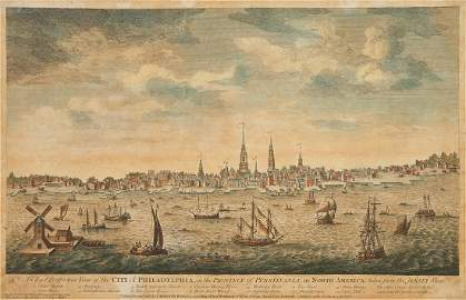 Bowles View of Philadelphia, Heap and Scull
