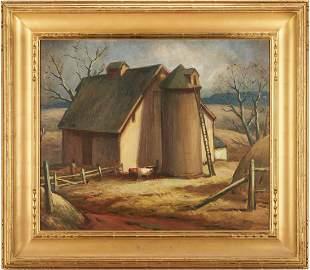 Eliot Clark O/C Painting, Virginia Barn