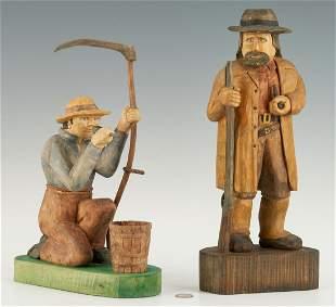 2 Roy Pace Folk Art Carvings
