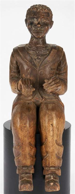 Black Americana figure, poss. Dutreuil Barjon, New
