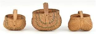 3 Miniature Virginia Buttocks Baskets