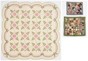 Brackney Family Quilt w/ tulip & 2 quilt mats