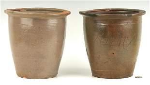 2 Greene County, TN Pottery Jars, incl. Exhibited