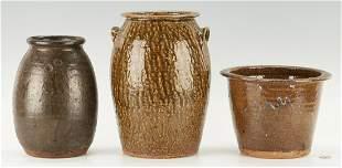 3 Carolina Stoneware Pottery Items, incl. Landrum