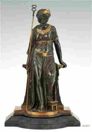 Bronze Cleopatra Sculpture signed E. Bouret