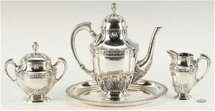 German .800 Silver Tea Service