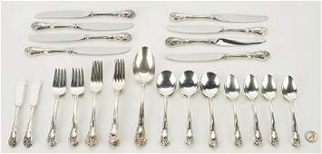 Alvin Sterling Flatware Chateau Rose 58 pcs