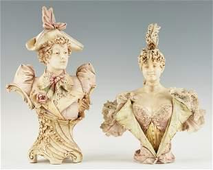 2 Amphora Porcelain Busts incl. Stellmacher