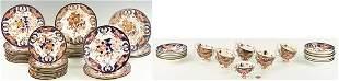 58 Pcs. Royal Crown Derby Kings Pattern Porcelain