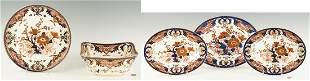 5 Royal Crown Derby Porcelain Serving Pieces