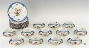 36 Herend Rothschild Bird Blue Pattern Items