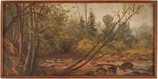 Oil on Board Landscape, attrib. Thomas Campbell