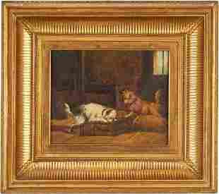 James Northcote O/C painting of dogs