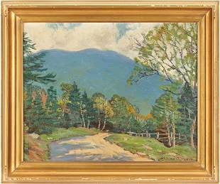 Robert Emmett Owen, New England Landscape O/C