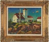 John Ellsworth Weis O/C Landscape, poss. Provincetown,