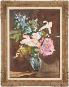 Sterling Strauser O/B, Floral Still Life