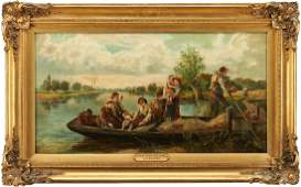 J. H. Hooper O/C Painting, Grandfather's Boat