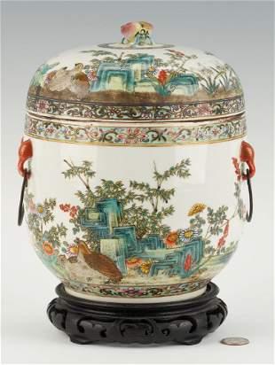 Chinese Famille Rose Porcelain Fruit Cooler