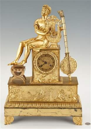 French Ormolu Figural Clock, Music Theme