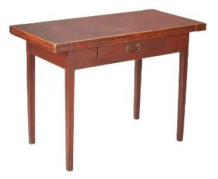 Federal Painted Maple Game Table