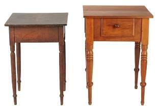 2 Sheraton Tables, attr. Kentucky